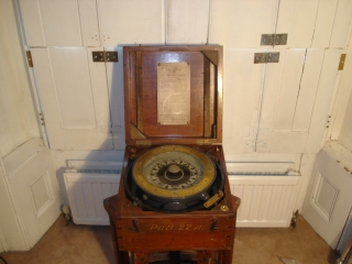 Naval Compass in Original Box Cabinet